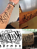 cheap -5 Pcs Tatoos Temporales For Men Women Temporary Tattoo Lettering English Words On Chest Arm Sleeve Tattoo Sticker Mens Body Art Sexy