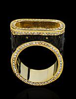 cheap -Women Band Ring AAA Cubic Zirconia Geometrical Gold / Black Brass Imagine Statement Unique Design European 1pc / Women's