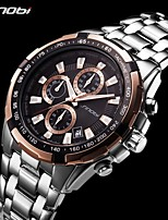 cheap -Sinobi Business Men Watch Luxury Chronograph Date Calendar Waterproof Stainless Steel Band Leisure Watches Gift reloj hombre
