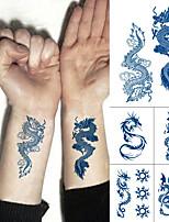 cheap -2 Pcs Juice Ink Lasting Waterproof Temporary Tattoo Sticker  Dragon Totem Tattoos Sun Wing Body Art Arm Fake Tatoo Women Men