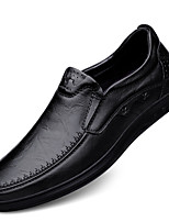 cheap -Men's Loafers & Slip-Ons Business Sporty Casual Daily Office & Career Nappa Leather Black Brown Fall Spring