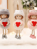 cheap -Red Love Girl Heart Christmas Pendant Creative Peach Heart Mother Gift