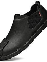 cheap -Men's Loafers & Slip-Ons Casual British Daily Office & Career Leather Black Brown Fall Spring