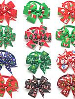 cheap -Dog Cat Tie / Bow Tie Retractable Adjustable Flexible Christmas Polyester Multicolor 3pcs