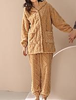 cheap -Adults' Kigurumi Pajamas Nightwear Bear Onesie Pajamas Flannelette Khaki Cosplay For Animal Sleepwear Cartoon Festival / Holiday Costumes / Pants / Hoodie