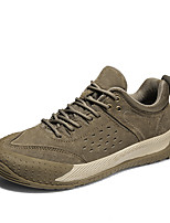 cheap -Men's Sneakers Business Sporty Casual Daily Outdoor Fitness & Cross Training Shoes Leather Cowhide Gray Khaki Color Block Fall Winter