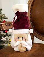 cheap -Santa Glasses Red Wine Bottle Bag Christmas Red Wine Set Red Husband Wine Bottle Set 1pcs