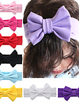 cheap -11 pcs/set Children's Straight-Angled Bowknot Rabbit Ears Children's Solid Color Headband Hair Accessories