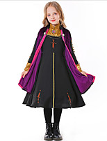 cheap -Princess Movie / TV Theme Costumes Dress Cosplay Costume Kid's Girls' Halloween Halloween Halloween Carnival Children's Day Festival / Holiday Terylene Black Easy Carnival Costumes Solid Color / Coat