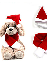 cheap -Dog Cat Dog Scarf Cute Christmas Halloween Dog Clothes Puppy Clothes Dog Outfits Cosplay Red Costume for Girl and Boy Dog Plush S M L