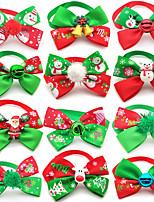 cheap -Dog Cat Tie / Bow Tie Retractable Adjustable Flexible Christmas Polyester Multicolor 2pcs
