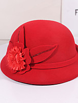 cheap -Women's Party Hat Party Wedding Street Flower Pure Color Wine Camel Hat / Black / Red / Gray / Khaki / Fall