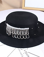 cheap -Women's Party Hat Party Wedding Street Beaded Pure Color Black White Hat / Green / Khaki / Fall / Winter
