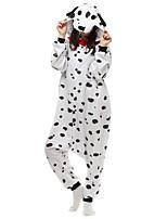 cheap -Adults' Kigurumi Pajamas Nightwear Puppy Onesie Pajamas Flannelette White Cosplay For Men and Women Animal Sleepwear Cartoon Festival / Holiday Costumes