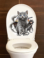 cheap -Toilet Stickers - Animal Wall Stickers Animals Bathroom Kitchen Removable Re-Positionable