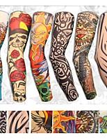 cheap -6 pcs Yariew Temporary Tattoo Sleeves Sticker Set Arts Temporary Fake Slip On Tattoo Arm Sleeves Kit