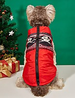 cheap -Dog Cat Coat Puffer / Down Jacket Dog clothes Skull Casual Daily Sports Christmas Halloween Winter Dog Clothes Puppy Clothes Dog Outfits Warm Black / Red Costume for Girl and Boy Dog Polyester XS S M