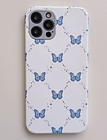 cheap -Phone Case For Apple Back Cover iPhone 12 Pro Max 11 SE 2020 X XR XS Max 8 7 Shockproof Dustproof Butterfly TPU