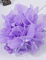 cheap -7 Pcs/set Princess Pearl Yarn Hair Tie Ball Head Dance Performance Wrist Flower Hair Accessories Girl Hair Tie