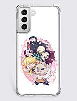 cheap -Demon Slayer: Kimetsu no Yaiba Cartoon Characters Phone Case For Samsung S21 S21 Plus S21 Ultra Unique Design Protective Case Shockproof Dustproof Back Cover TPU