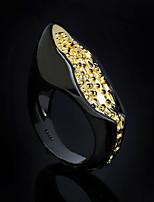 cheap -Women Statement Ring Geometrical Gold / Black Brass Floral Theme Statement Unique Design Ethnic 1pc / Women's