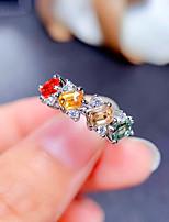 cheap -Women Ring AAA Cubic Zirconia Fancy Rainbow Brass Love Fashion European Trendy 1pc / Women's