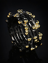 cheap -Women Statement Ring Double Layered Gold / Black Brass Botanical Unique Design Fashion Vintage 1pc / Women's
