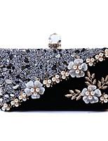 cheap -Women's Bags Polyester Evening Bag Crystals Chain Party / Evening Daily Evening Bag Chain Bag Black