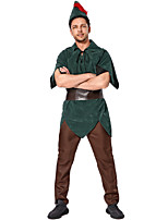 cheap -Movie / TV Theme Costumes Cosplay Cosplay Costume Adults' Men's Halloween Halloween Festival Halloween Festival / Holiday Terylene Green Men's Easy Carnival Costumes Solid Color / Top / Pants / Hat
