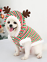 cheap -Dog Cat Christmas Costume Elk Merry Christmas Deer Adorable Cute Christmas Dailywear Winter Dog Clothes Puppy Clothes Dog Outfits Breathable Red / Green Costume for Girl and Boy Dog Polyester XS S M