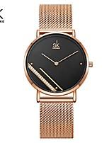 cheap -Shengke Montre Femme New Luxury Ladies Watch Fashion Simple Watches Womes Crystal Dial Quartz Watch Women Clock Relogio Feminino