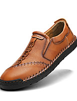 cheap -Men's Loafers & Slip-Ons Business Casual Vintage Daily Outdoor Walking Shoes Leather Cowhide Booties / Ankle Boots Light Brown Dark Brown Black Fall Winter