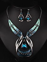 cheap -Women's Synthetic Sapphire Bridal Jewelry Sets Geometrical Drop Boho Earrings Jewelry Silver For Party Daily Holiday Festival 1 set