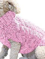 cheap -Warm Dog Cat Sweater Clothing Winter Turtleneck Knitted Pet Cat Puppy Clothes Costume For Small Dogs Cats Chihuahua Outfit Vest