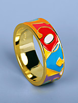 cheap -Women Ring Fancy Rainbow Brass Letter Simple Colorful Fashion 1pc / Women's