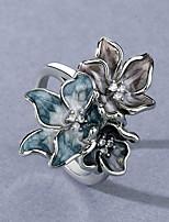 cheap -Women Ring AAA Cubic Zirconia Vintage Style Gray Brass Floral Theme Flower Artistic Elegant European 1pc / Women's