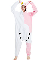 cheap -Adults' Kigurumi Pajamas Nightwear Cartoon Monomi Onesie Pajamas Flannelette Pink Cosplay For Men and Women Animal Sleepwear Cartoon Festival / Holiday Costumes