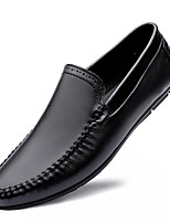 cheap -Men's Loafers & Slip-Ons Business Casual British Daily Office & Career Cowhide Black Brown Fall Spring