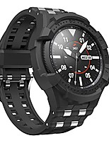 cheap -case compatible with galaxy watch 3 45mm, rugged one-piece case with band for watch 3 45mm