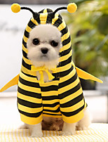 cheap -Dog Cat Costume Coat Hoodie Animal Adorable Cute Dailywear Casual / Daily Winter Dog Clothes Puppy Clothes Dog Outfits Breathable Yellow Costume for Girl and Boy Dog Polyester XS S M L XL XXL
