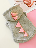 cheap -Dog Cat Hoodie Sweatshirt Animal Adorable Cute Dailywear Casual / Daily Winter Dog Clothes Puppy Clothes Dog Outfits Soft Light Yellow Pearl Pink Pink Costume for Girl and Boy Dog Cotton XS S M L XL