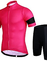 cheap -men's cycling bike jersey ride short-sleeved suit, male mountain bike, male bicycle riding pants, cycling equipment-all-powder black strip_m