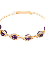 cheap -Women's Crystal Bracelet Crystal Bracelet Classic Eyes Simple Luxury Classic Copper Bracelet Jewelry Violet For Gift Daily Club / 14K Gold