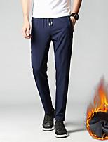 cheap -Men's Work Pants Fleece Lined Pants Hiking Pants Trousers Winter Outdoor Thermal Warm Windproof Breathable Lightweight Bottoms Black Dark Gray Dark Blue Fishing Climbing Running M L XL XXL XXXL