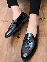 cheap -Men's Loafers & Slip-Ons Business Casual Classic Daily Party & Evening Synthetics Blue Black Fall Winter / Tassel