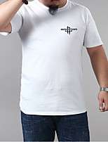 cheap -Men's T shirt Graphic Plus Size Metal Short Sleeve Casual Tops Blue Purple Yellow