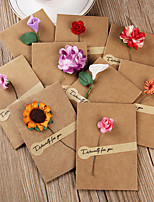 cheap -vintage kraft paper dried flower greeting card creative simple diy blessing card birthday tanabata teacher's day christmas