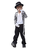 cheap -Cosplay Cosplay Costume Kid's Boys' Halloween Halloween Halloween Festival / Holiday Polyster Silver Easy Carnival Costumes Solid Color / Gloves / Hat