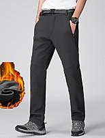 cheap -Men's Fleece Lined Pants Hiking Pants Trousers Softshell Pants Solid Color Winter Outdoor Regular Fit Thermal Warm Waterproof Windproof Warm Pants / Trousers Bottoms Dark Gray Black Ski / Snowboard