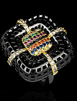 cheap -Women Statement Ring AAA Cubic Zirconia Fancy Rainbow Brass Joy Statement Artistic Unique Design 1pc / Women's